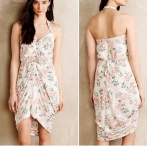 NWT ATHROPOLOGIE FLORAL HALTER DRESS